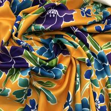 Floral Printed Stretch Polyester Knit Fabric Polyester Lycra Scuba Fabric for Bikini Swimwear