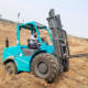 China New 2.5T 3T 3.5T 4T 5T 4X4 4WD All Rough Terrain Forklift Diesel Fork Lift with 3 Stage Mast Japanese engine & Side Shift