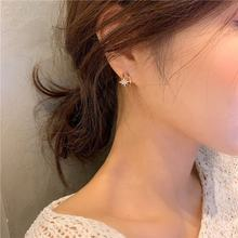 Korean Style Fashion Hexagram Earrings Charms Jewelry Crystal Stud Earrings