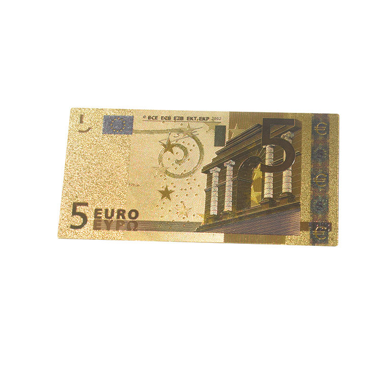 24k goldfolie banknote EURO 5 rechnung collect gold banknote 99,999 24k gold