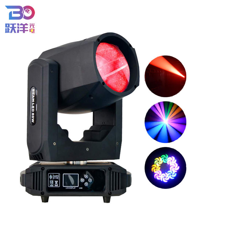 Newest Best selling OEM service and Factory price Beam 80W Gobo Colors 16ch/20ch DMX Control LED Stage Lighting beam for dj club