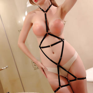 Women Full Body Harness Garter Belt Stockings Lingerie Elastic Suspender Belt Sexy Set