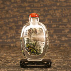 crystal interior painting snuff bottles play appreciation collection hand-painted gift with Chinese characteristics