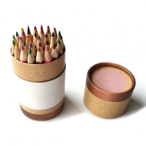 Wooden colored pencils in bulk