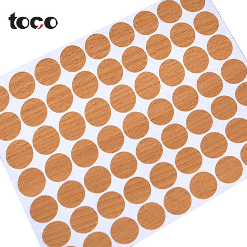TOCO Furniture Accessory Capfix Self Adhesive For Furniture Texture Sticker Cover Screw Holes Hundreds Color Option