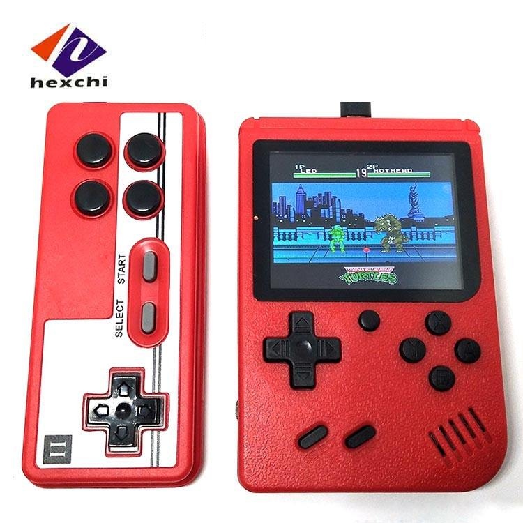 Dual-player Video Game Box Retro Classic Mini Game Machine 400 In 1 Handheld Video Game Console for Children