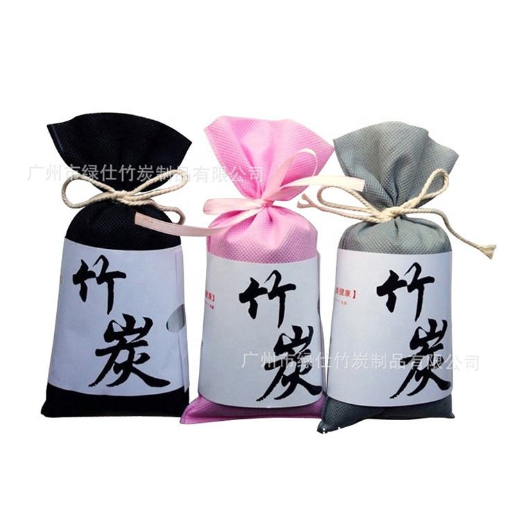 Customized eco-friendly natural air freshener de formaldehyde deodorant moisture absorption bamboo charcoal packets