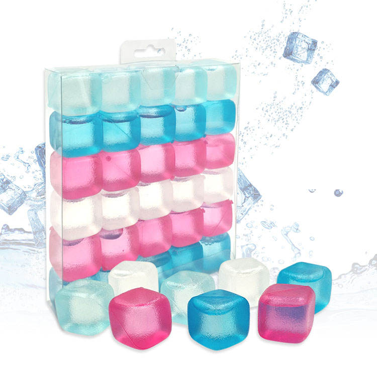 Real best selling BPA -free food grade ice grains plastic custom reusable artificial practical ice cube