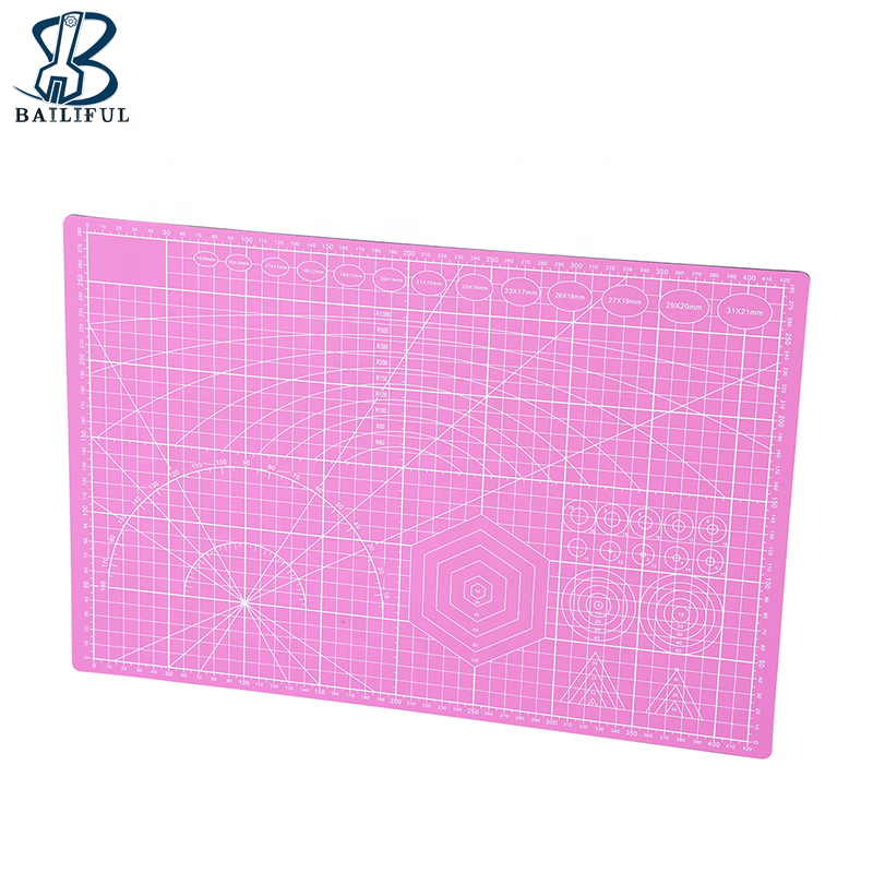 A3 High Quality Cutting Mat Grid Lines PVC Self-healing Leather Cutting Mat Tools