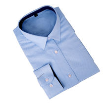 Manufacture High Quality Solid Color Men's Regular Fit Non Iron Oxford Dress Shirts With Long Sleeve