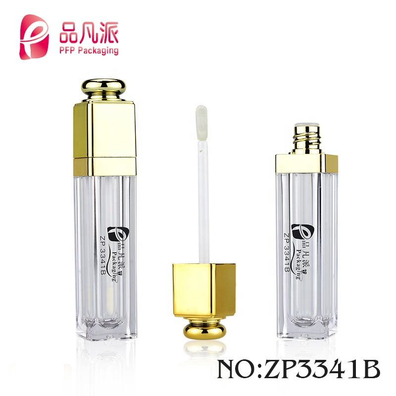 2019 new square lipgloss bottle packaging make your own lip gloss