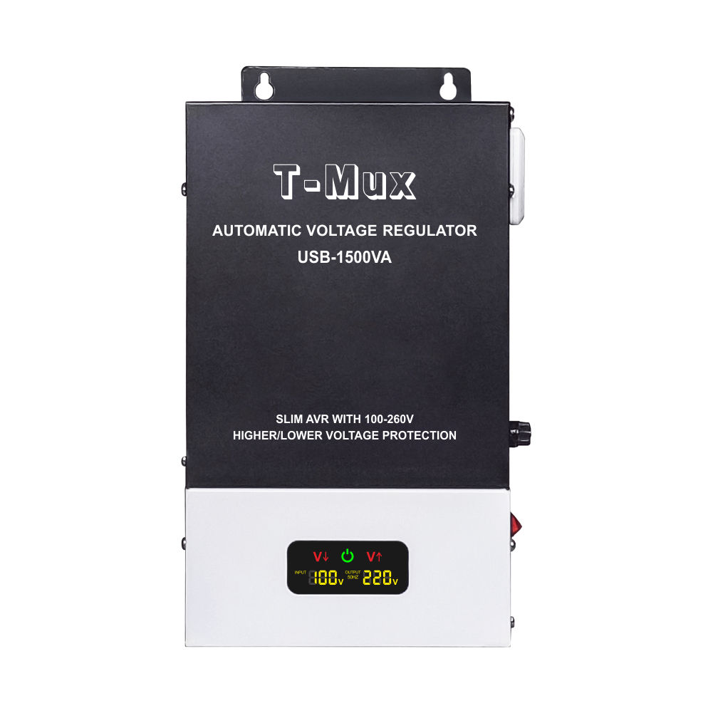 single phase T-Mux USB-1500VA Wall mounted automatic stabilizer voltage regulator