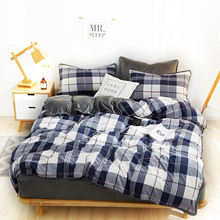 Modern Simple design bed sheet home quilt bedding set 100% cotton