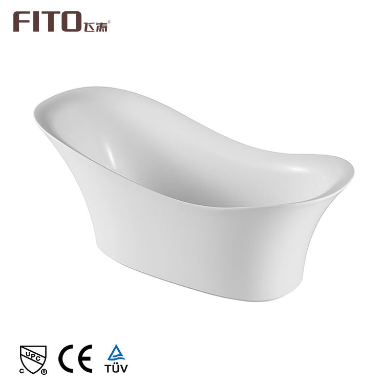 New Design 1 Piece Sanitary Ware Standalone Small Water Free Standing UPC Bath Tub