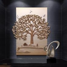 Relife 3d gold tree indian home decor wholesale factory price wall hangings for home decor wallpapers 3d