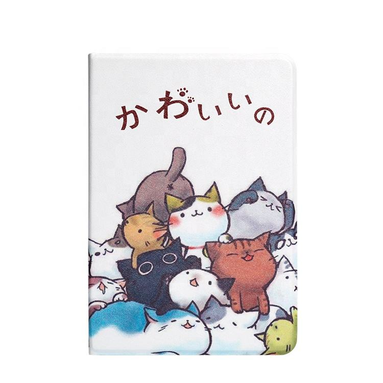 DT007 Happy bubble cat white table covers PU leather tablet cases for iPad