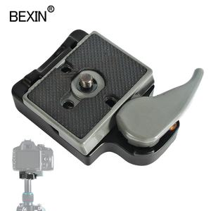 BEXIN 200PL-14 quick release plate clamp set stabilizer plate camera tripod adapter for manfrotto 484 496323 486 RC2 tripod