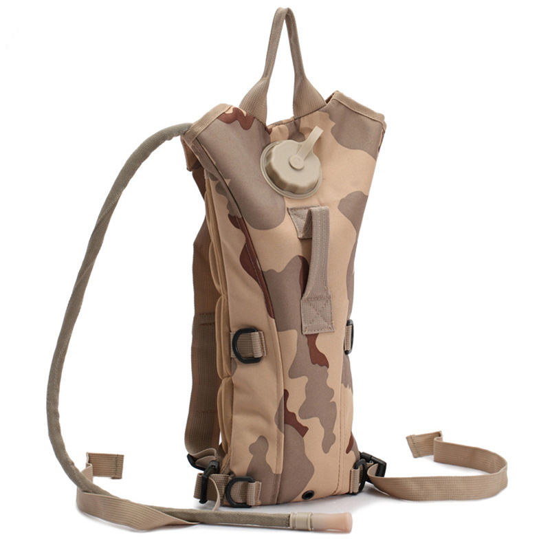 Outdoor Molle Nylon Tactical Hydration Camel Backpack Bag With 3L Water Bladder