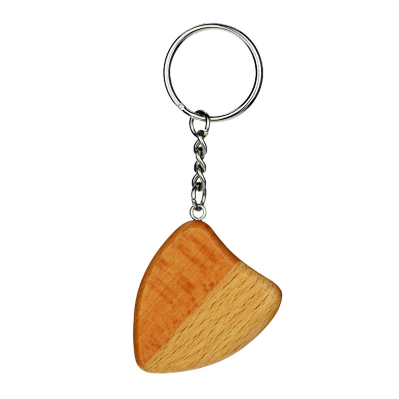 Promotional Key Chain Souvenir Gifts Heart Engrave Custom Wood Keychain