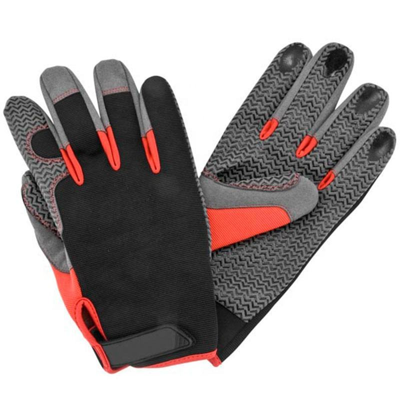 Mechanic Gloves Front Finger Silicon printing Fashion Light Weight Gloves