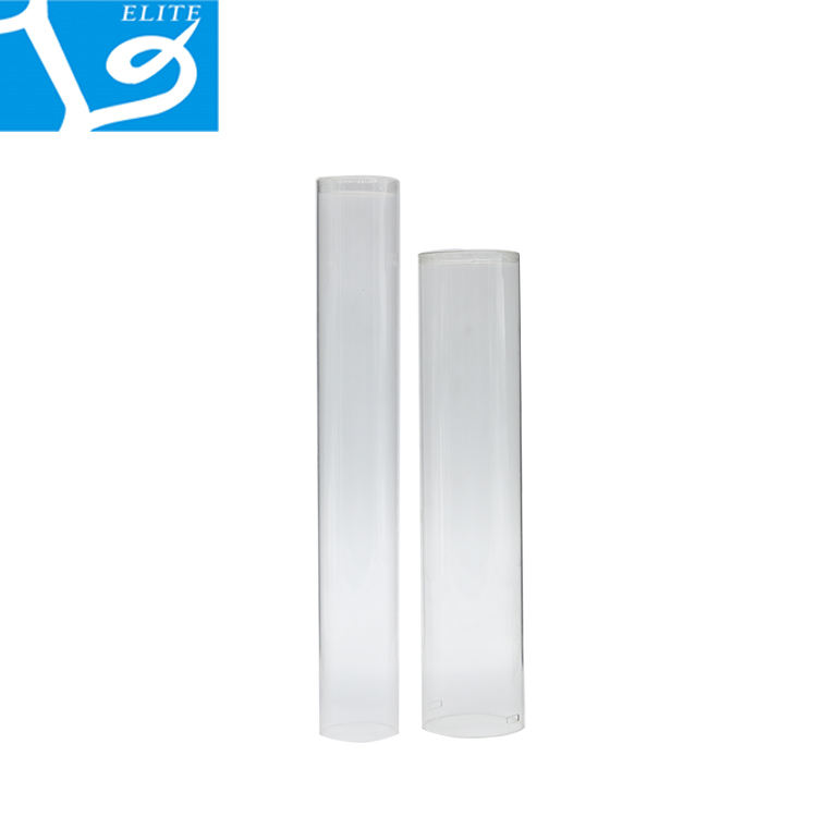 High Quality PC Transparent Packaging Plastic Round Tube, Clear PET Plastic Transparent Tube