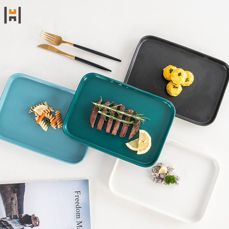 Latest arrival new style home bakeware different colours rectangle ceramic baking tray