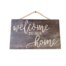 Wooden antique rustic home decor ornament welcome sign Door Plaque