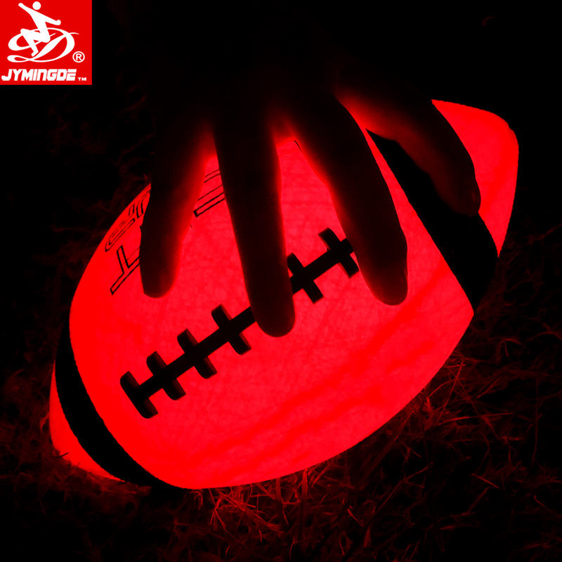 custom design size 3 / 6 /9 shiny football , glow in the dark american football