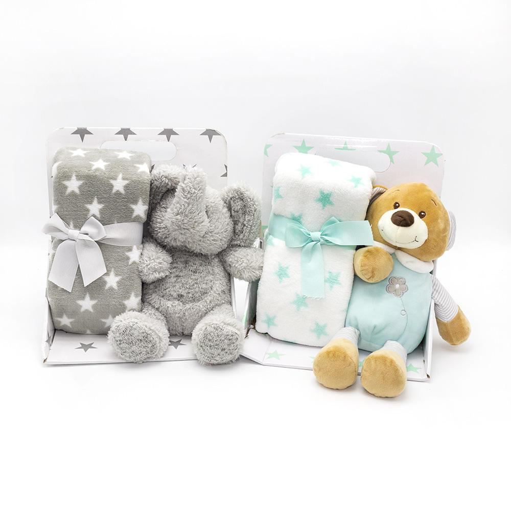 2021 new arrival comfortable good quality baby blanket stuffed animal elephant plush toys for new born baby
