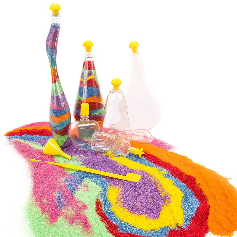 Amazon Best Seller STEM Toys Children Arts and Crafts Glow in the Dark Sand Art Bottles and Necklaces Sand Art Kit for Kids