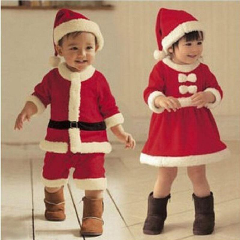 Santa Claus Clothes for kids baby boys girls Christmas clothing set party clothes for children 2019