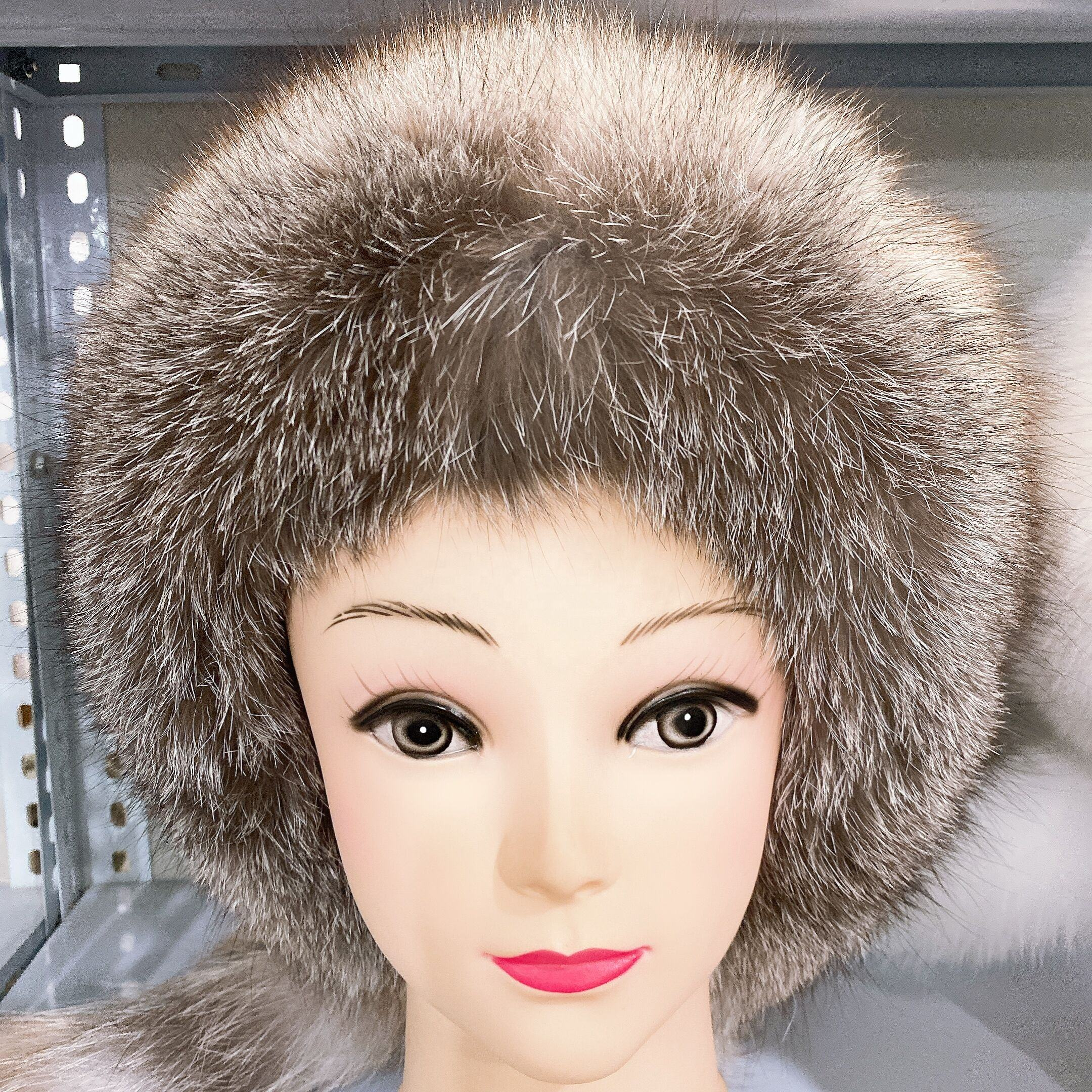 Breathable Waterproof 2018 Factory Hotsale Ladies Fashion Knitted Fox Fur Hats