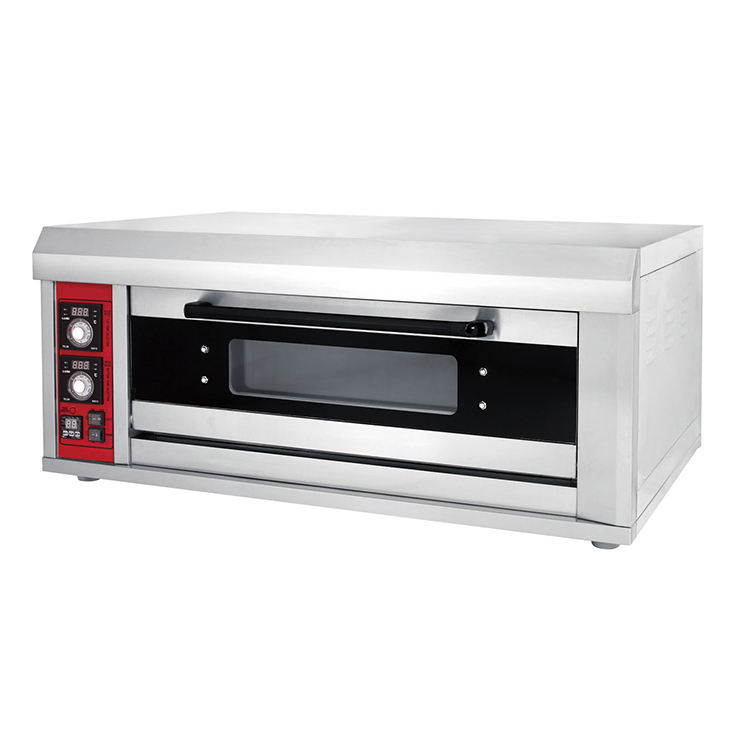 Small bakery bread single deck baking oven baking equipment 1 layer 1 deck 2 tray oven