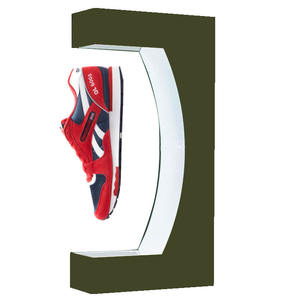 Electronic led flower wireless power 3d items levitating shoe display red magnetic sneaker levitation