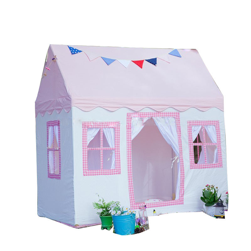 Pink princess dream Cotton Fabric children canvas house playhouse with EN71 rohs certification kids toy tent for sale