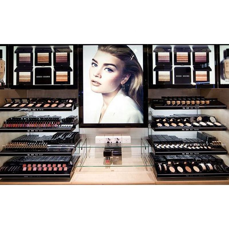 Factory Supply Makeup Display Showcase For Mall, Display Stand, Cabinet For Retail