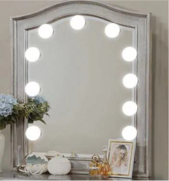 10 LED Mirror Bulbs Make up Light Super Bright Portable Cosmetic Mirror Lights Kit Hollywood Style USB Charge