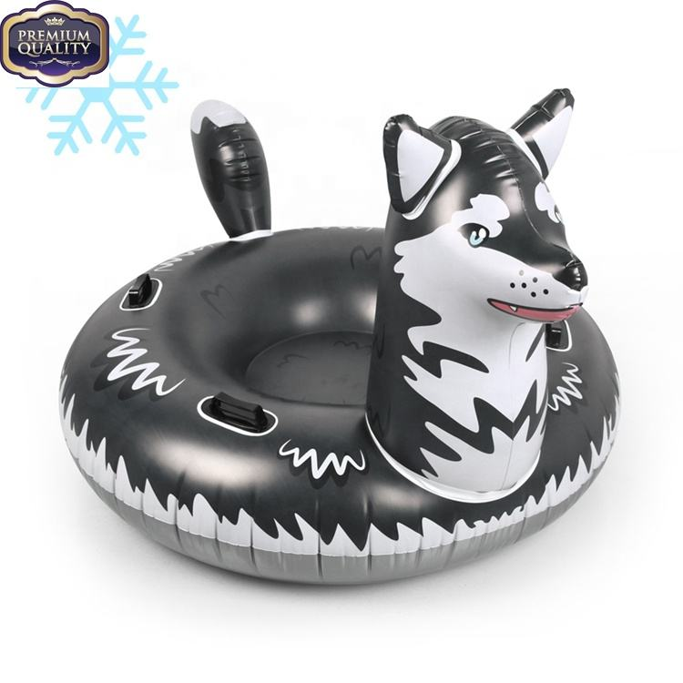 Wholesale Inflatable winter products sled toys custom towable sledding equipment Sledge Snow Tube Sled
