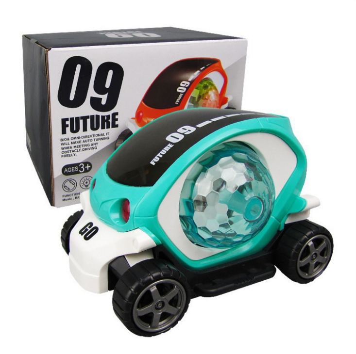 3D light rotating colorful music cartoon traffic children electric car toy