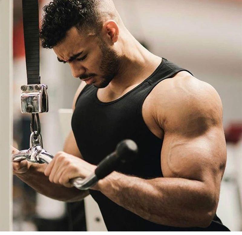 Wholesale Custom Sports Men Yoga Gym Weightlifting Running Singlet Tank Top