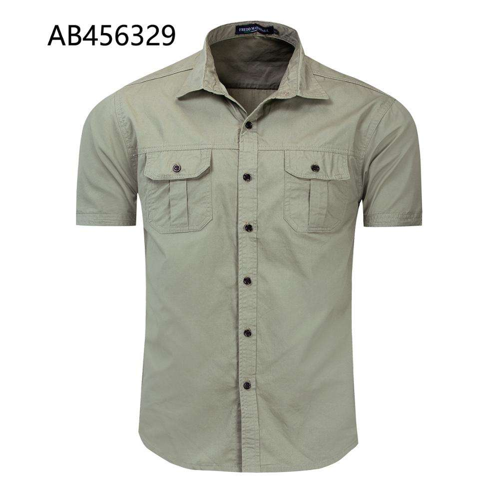 Wholesale Fashion Casual Mens Formal Half Sleeve Shirts for mens AB456329