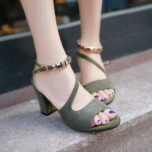 Korean latest model plus size design ladies party shoes women high heel shoes