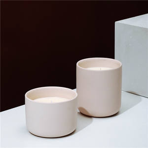 modern nordic style cylinder wholesale home decoration candle holder cheap empty candle jar