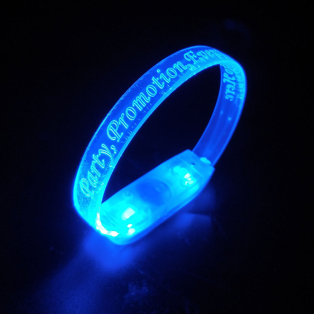 Music Activated Led Bracelet 2021 New Design Flashing Light Sound Sensor Led Bracelet Gift
