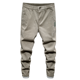 2020 new arrival white non-denim jeans khaki pants elastic waist band fashion jogger jeans with pockets for youth man boy