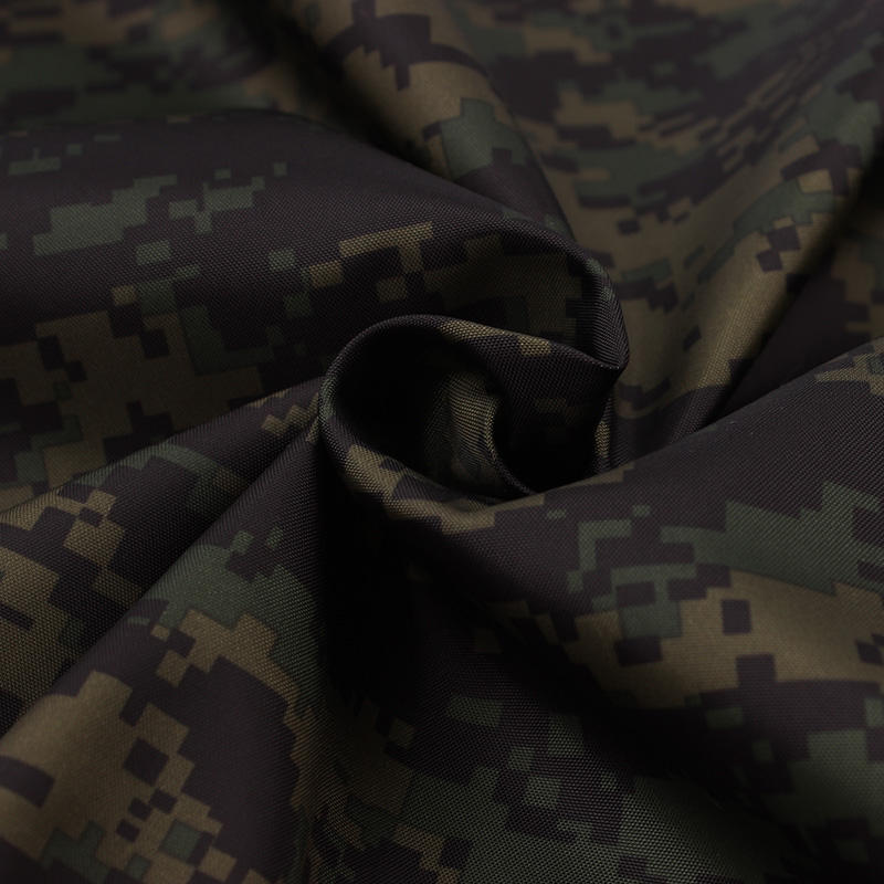 210T polyester taffeta stof militaire jungle digitale camouflage print