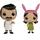 Funk Pop Movie Bob's Burgers Character Bob Belcher & Louise Belcher Vinyl Dolls Figure Toys 2019 kids anime figure toys