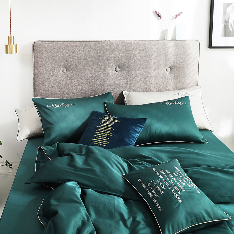 Reactive Solid color blanket home use luxury duvet cover set with buttons