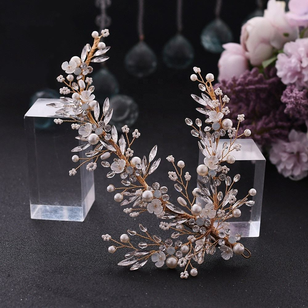 Metal [ Hair Accessories Bridal ] Bridal Hair Accessories Elegant Beaded And Pearl Wedding Hair Accessories Headpieces For Bridal MP280