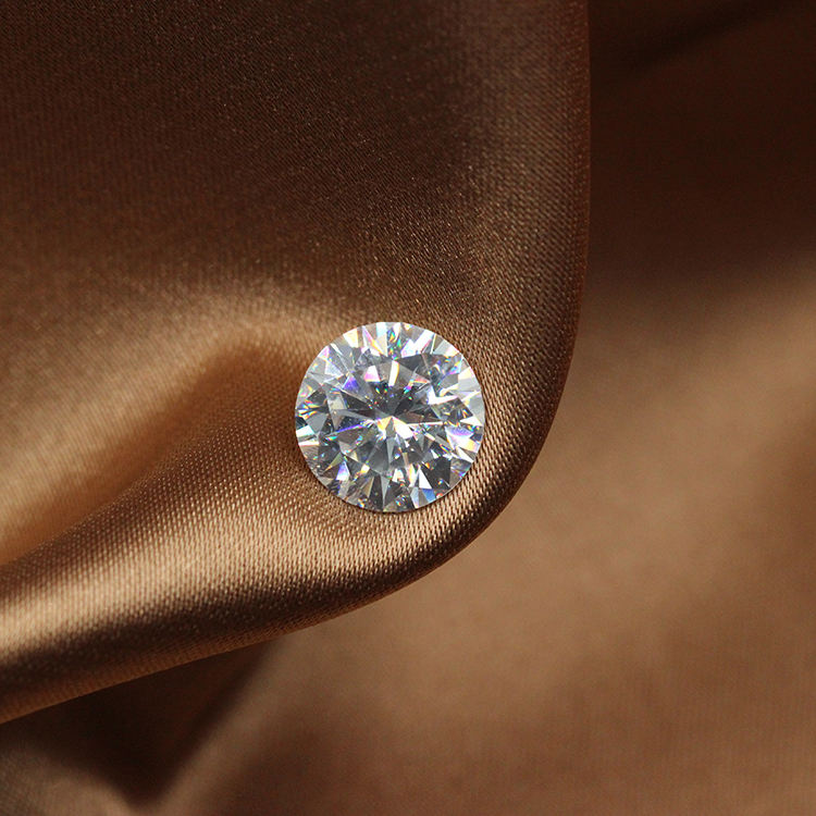 1CT 6.5mm Supper White D Color VVS1 Round Diamond Cut Moissanite Loose